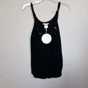 Costa Blanca | NWT Beaded Black Tank Top S